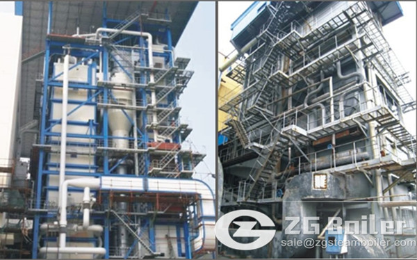 Difference between CFB boiler and pulverised coal boiler