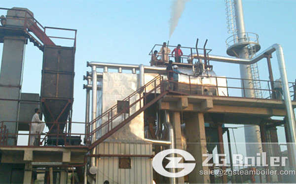75 ton biomass fired CFB boiler in Indonesia