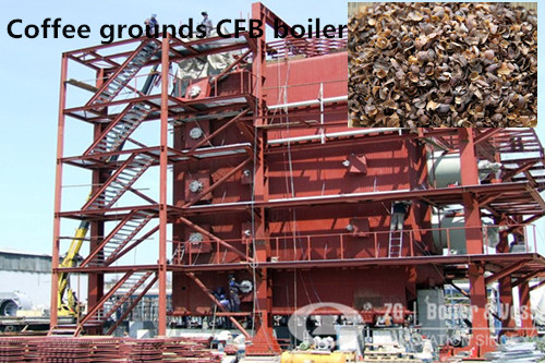 Coffee grounds CFB boiler image