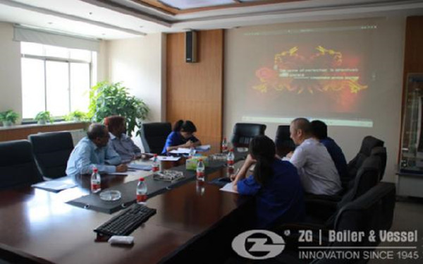 Warmly welcome Sri Lanka customer visit ZG Boiler