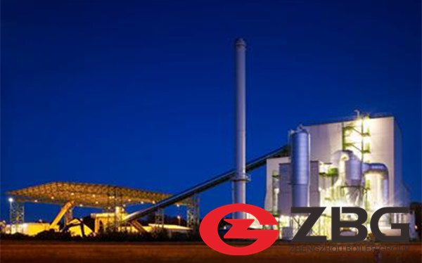 220 ton 95 bar CFB boiler palm shell fired