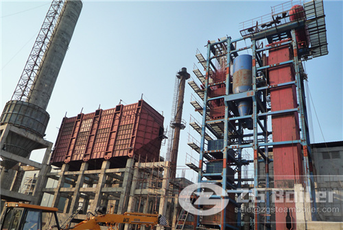 Biomass fired boiler in Biomass Cogeneration Plant