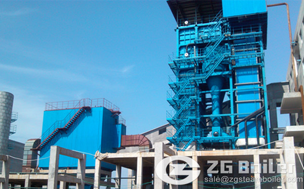 50 tons circulating fluidized bed boiler in Vietnam