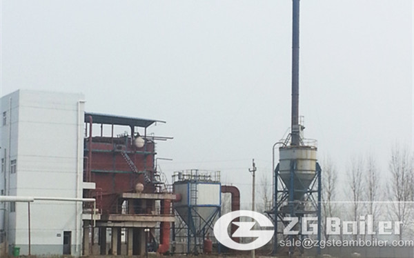 10 ton CFB boiler working in Soy products company image