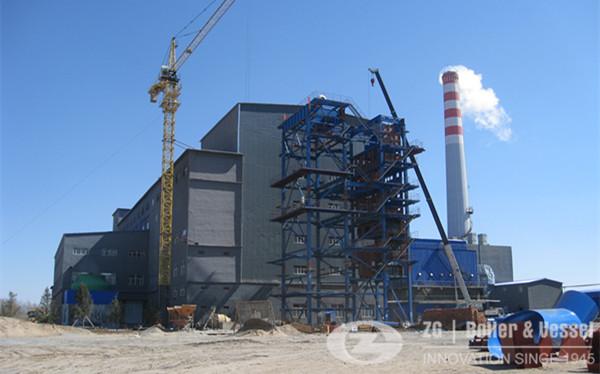 130 ton CFB boiler for central heating in Inner Mongolia image