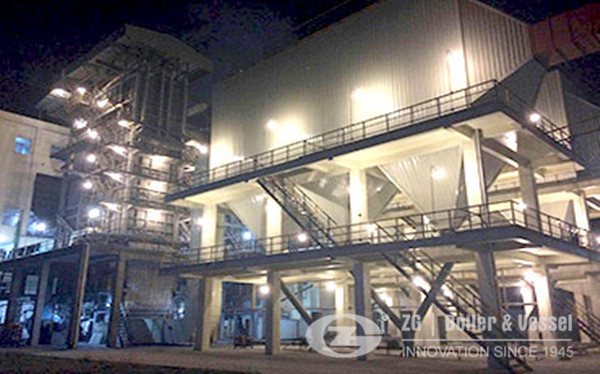 40 ton CFB boiler project in chemical industry China