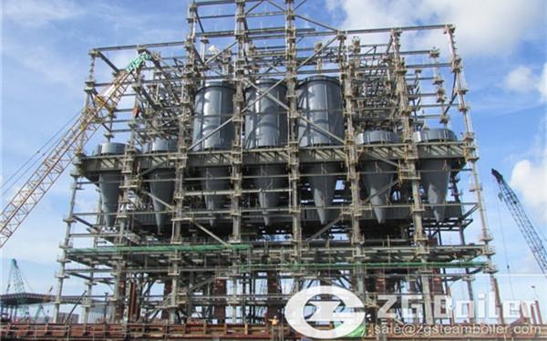 Myanmar rice husk steam CFB boiler for rice mill image