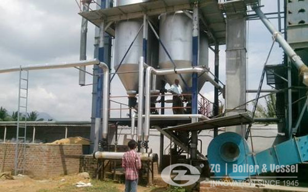 FBC steam Boiler For Rice mill plant image