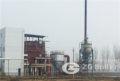 Rice husk firing power generation boiler plant image