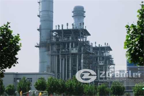 Natural gas power plant boiler