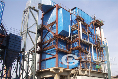 China's biomass circulating fluidized bed boiler