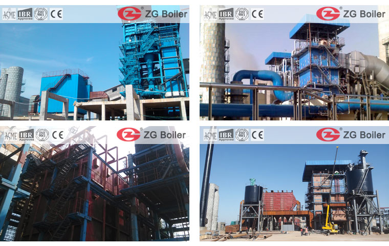 Cases about 90 t/h coal fired circulation fluidized bed boiler